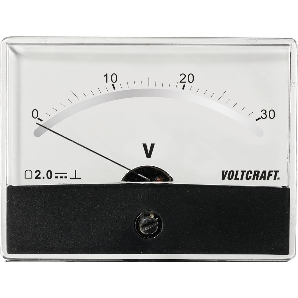 VOLTCRAFT AM-86X65/30V/DC ugradbeni mjerni uređaj AM-86X65/30V/DC 30 V pomični svitak