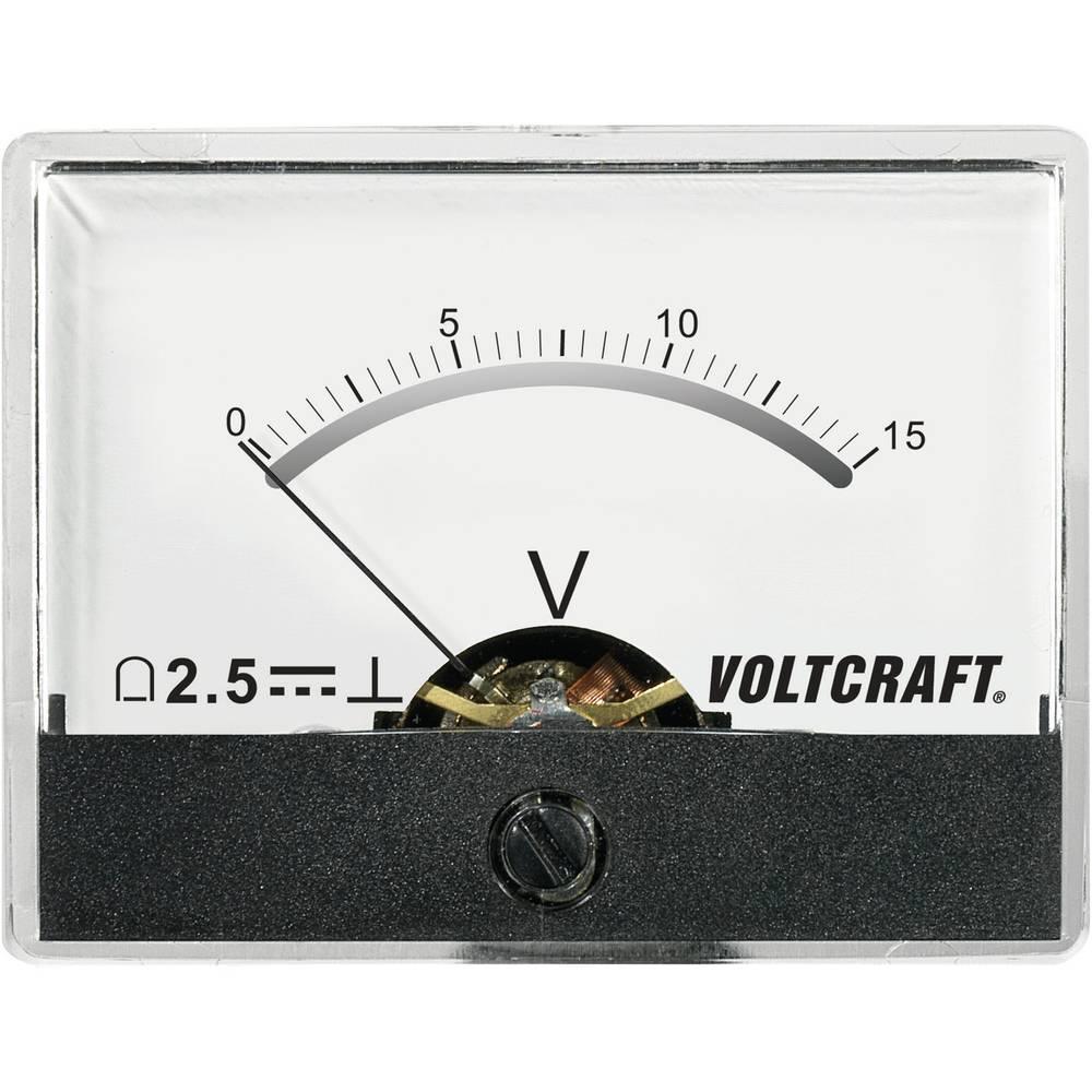 VOLTCRAFT AM-60X46/15V/DC ugradbeni mjerni uređaj AM-60X46/15V/DC 15 V pomični svitak