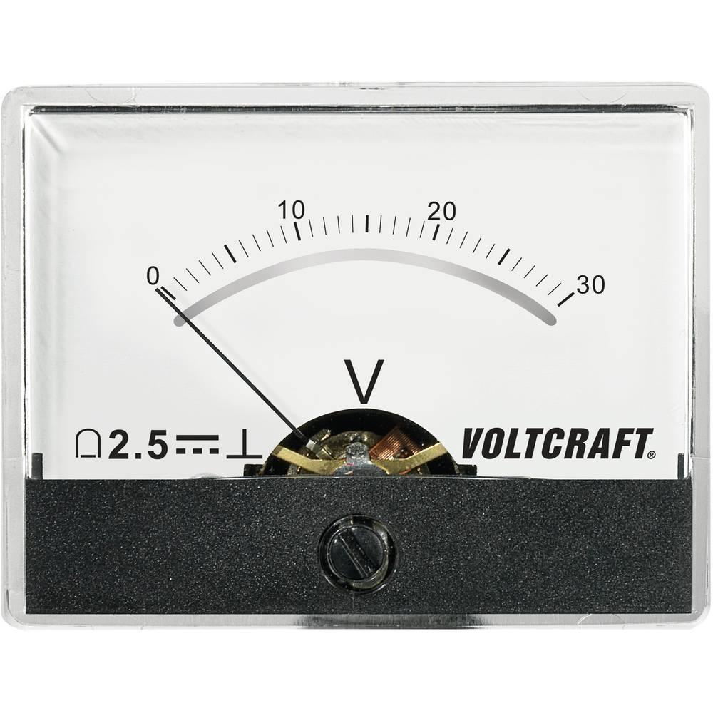 VOLTCRAFT AM-60X46/30V/DC ugradbeni mjerni uređaj AM-60X46/60V/DC 30 V pomični svitak