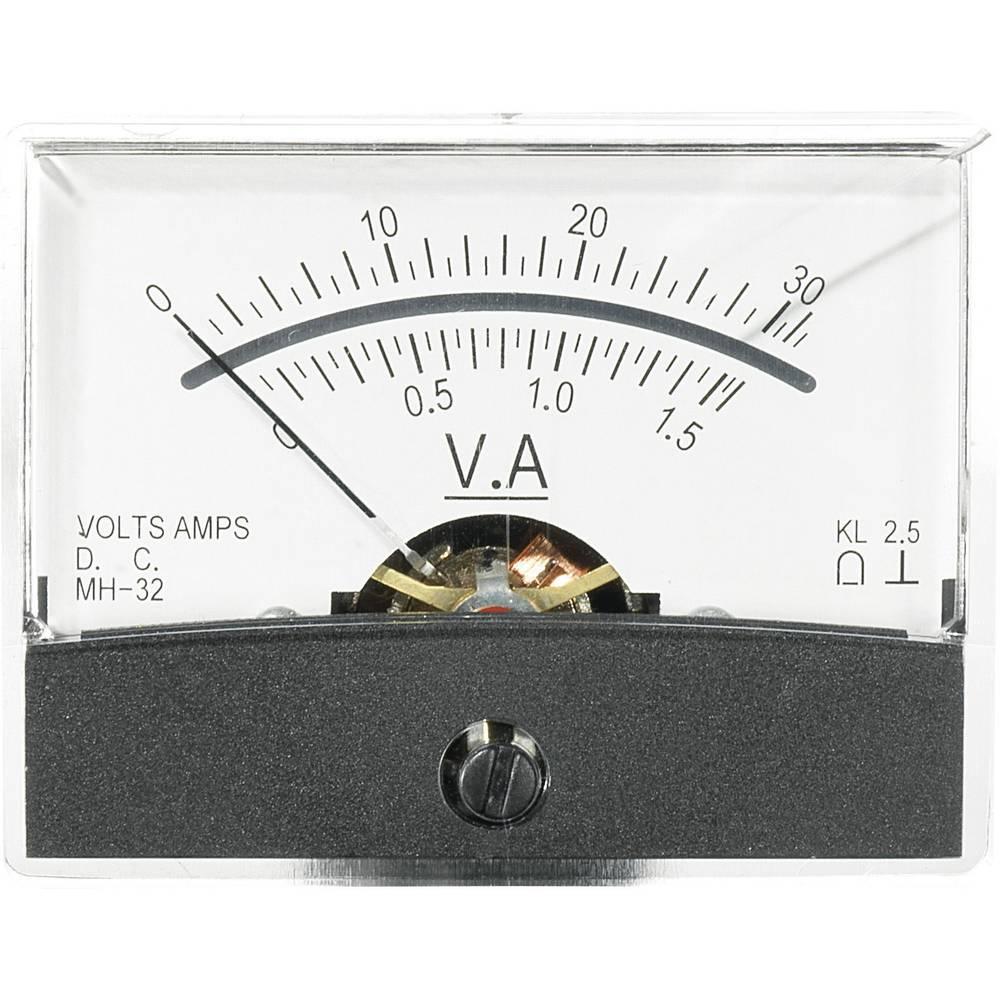 VOLTCRAFT AM-60X46/30V/1,5A/DC vgradni merilnik AM-60X46/30V/1,5A/DC 30 V/1.5 A vrtljiva tuljava