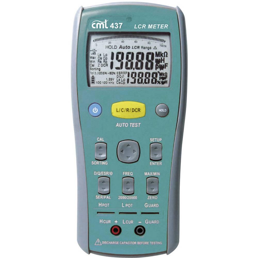 Tester komponent, digitalni CMT 437 kalibracija narejena po: delovnih standardih, CAT I število znakov na zaslonu: 20000