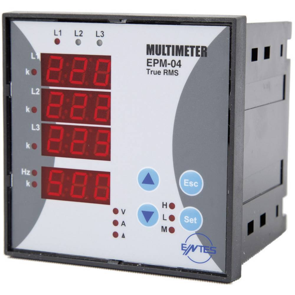 ENTES EPM-04C-96 programirljiv vgradni trifazni AC-multimeter, napetost, tok, frekvenca, obratovalne ure, skupne ure