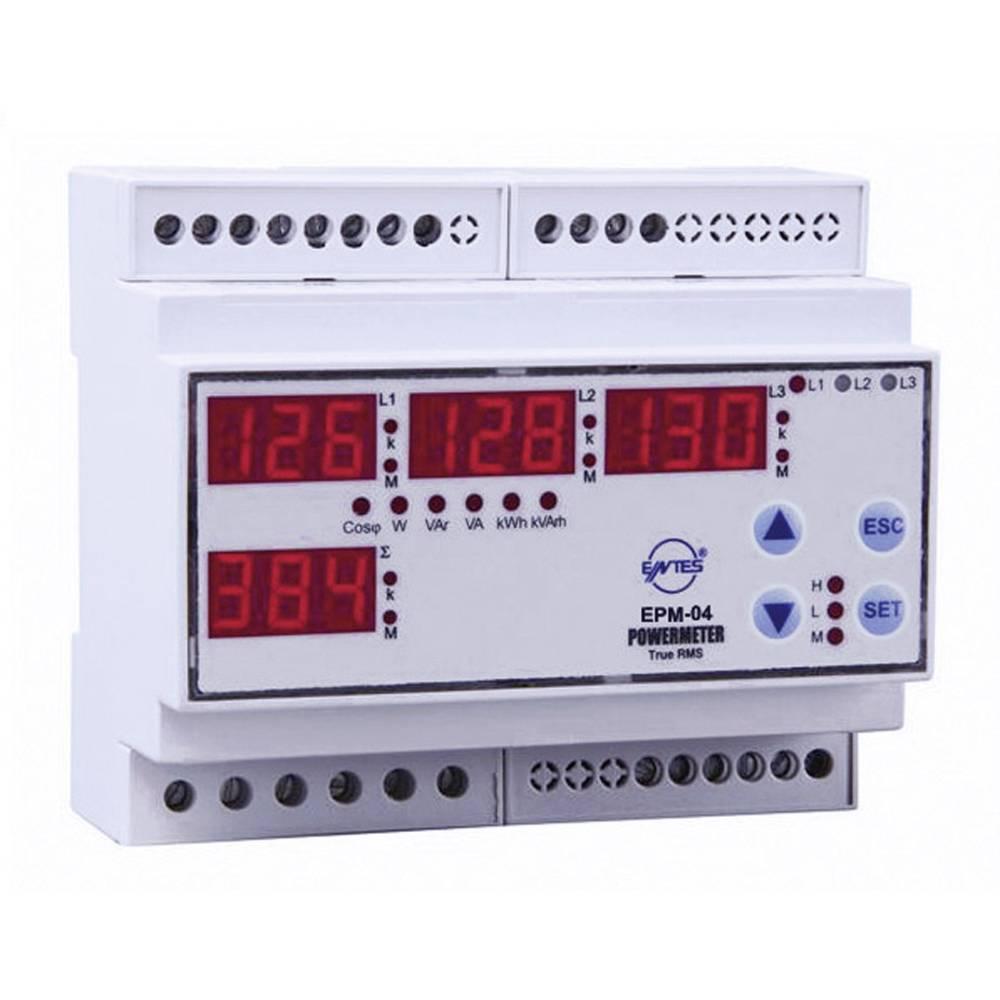 Programabilan 3-fazni AC multimetar EPM-04CS-DIN ENTES za DIN šinu