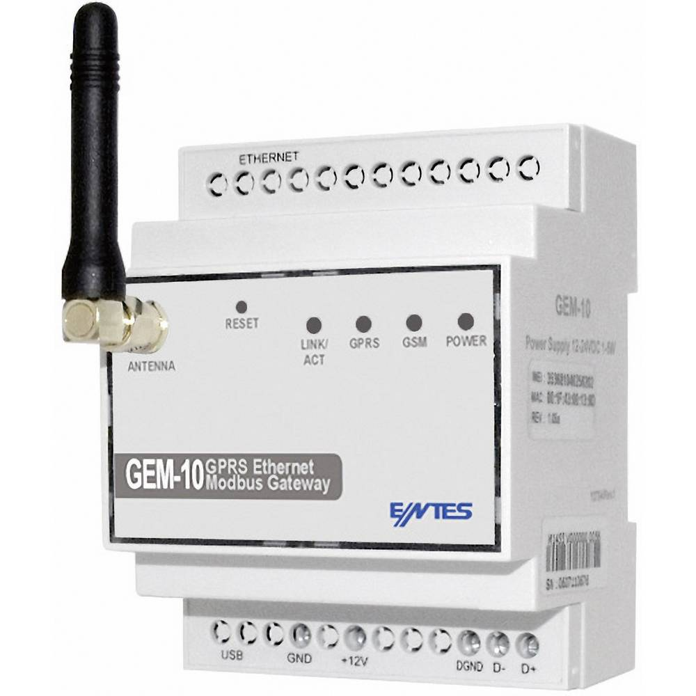 Gateway RS-485, USB ENTES GEM-10 število vhodov: 1 x število izhodov: 1 x I/O: 1 12 V/DC