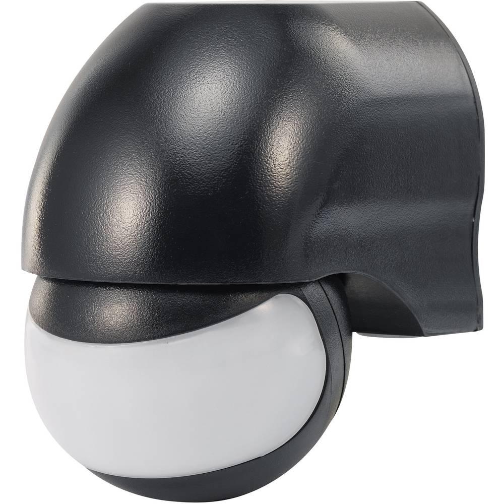 Nadžbukni PIR senzor pokreta Renkforce 1034068 180 ° relej, crni IP44