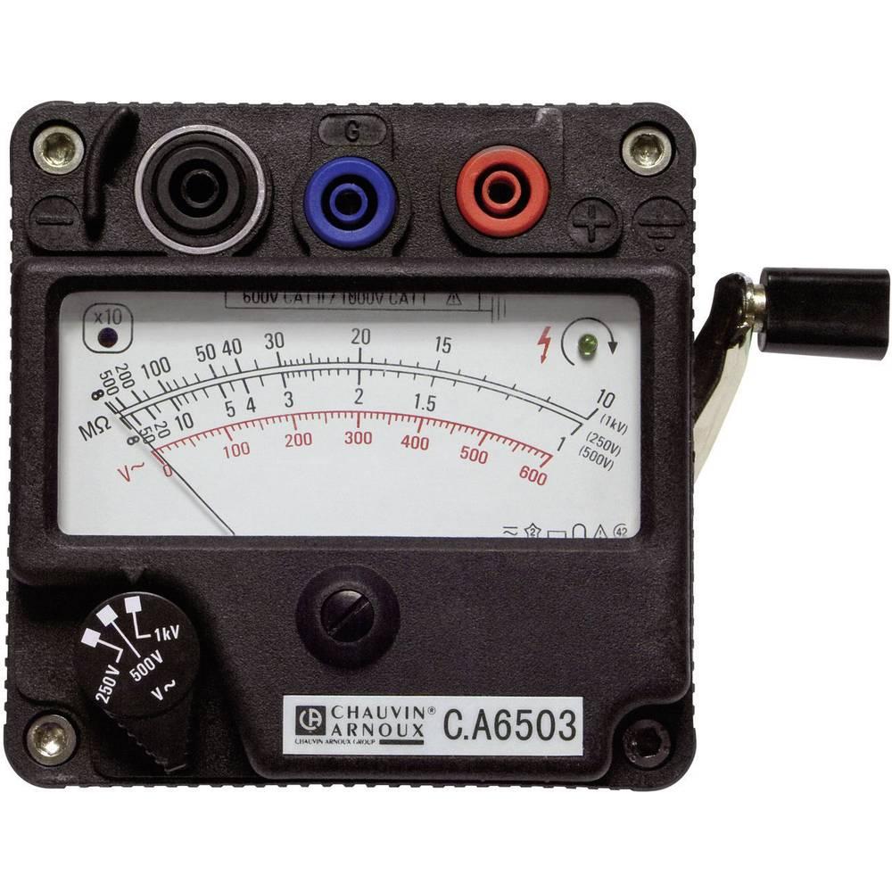Chauvin Arnoux CA 6503 merilnik izolacije ročični merilnik, merilno območje 5000 M ,250/500/1000 V/DC, CAT II 600 V, CAT III 300