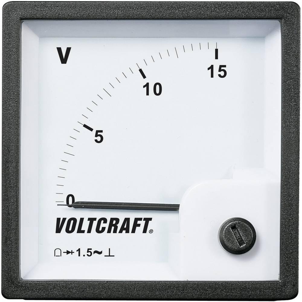 VOLTCRAFT AM-72x72/15V vgradni analogni merilnik AM-72x72/15V 15 V vrtljiva tuljava