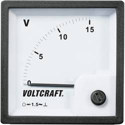 VOLTCRAFT AM-72x72/15V analogni ugradbeni mjerni uređaj AM-72x72/15V 15 V pomični svitak