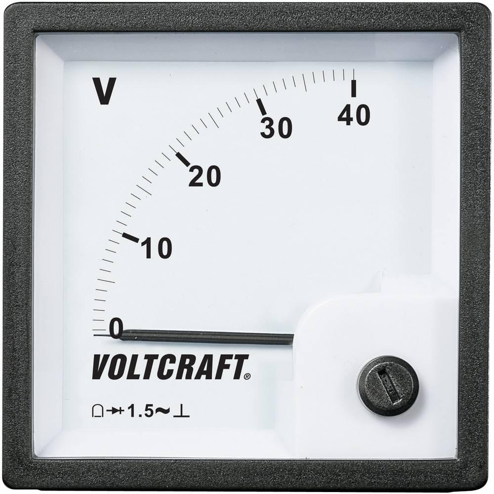 VOLTCRAFT AM-72x72/40V vgradni analogni merilnik AM-72x72/40V 40 V vrtljiva tuljava