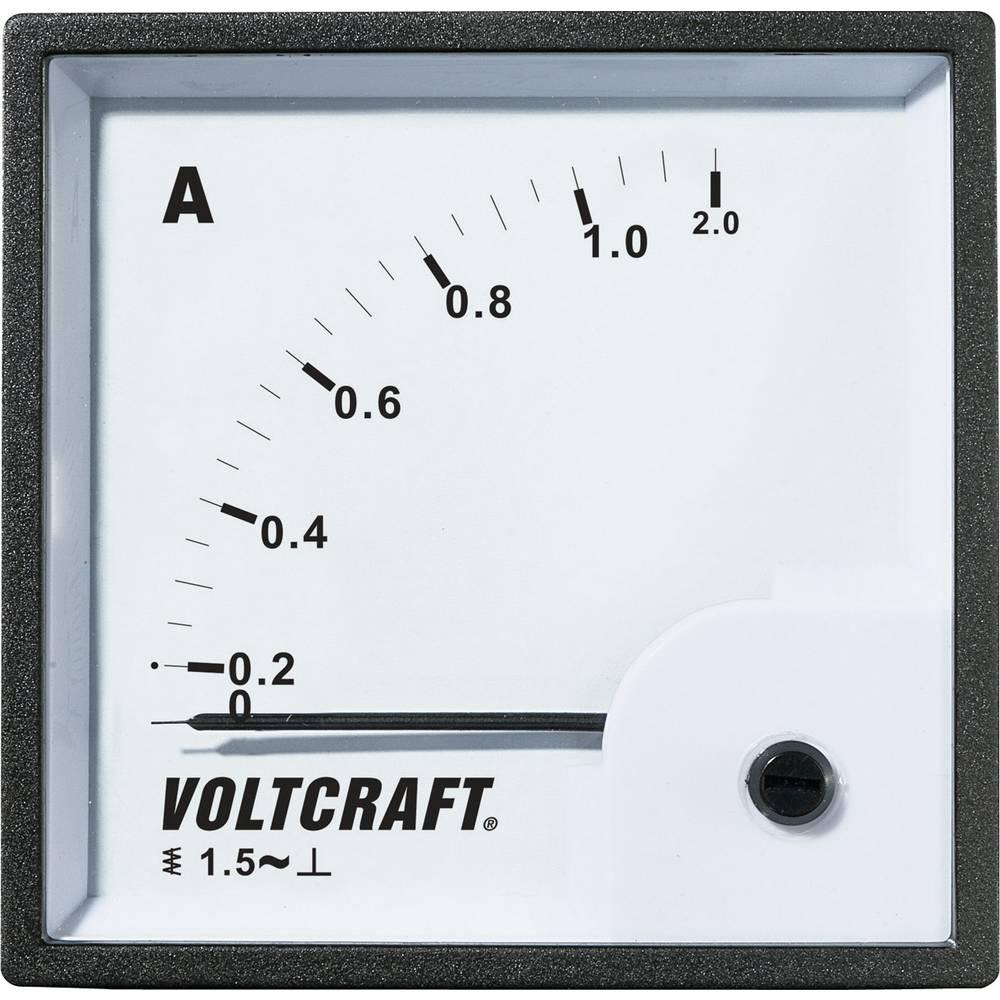 VOLTCRAFT AM-72X72/1A vgradni analogni merilnik AM-72X72/1A 1 A vrtljivo železo