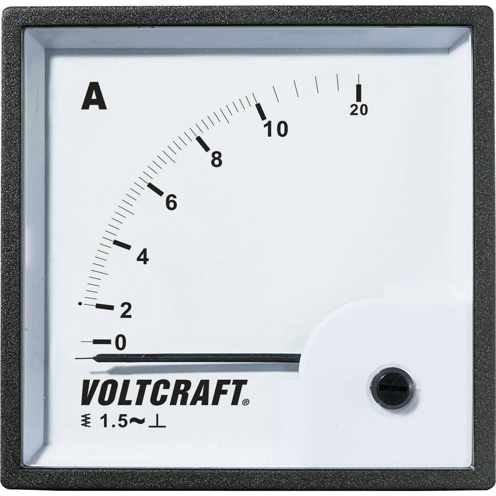 VOLTCRAFT AM-72X72/10A analogni ugradbeni mjerni uređaj AM-72X72/10A 10 A pomično željezo