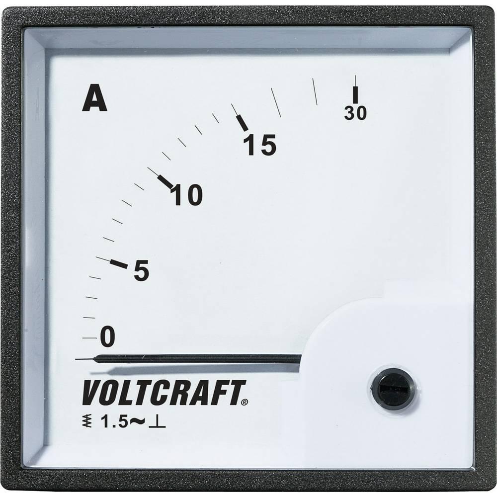 VOLTCRAFT AM-72X72/15A analogni ugradbeni mjerni uređaj AM-72X72/15A 15 A pomično željezo