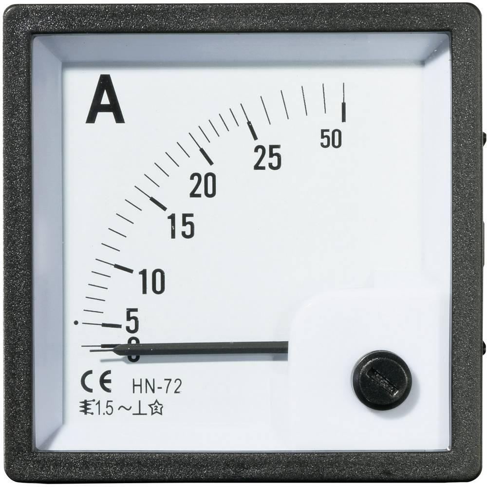 VOLTCRAFT AM-72X72/25A analogni ugradbeni mjerni uređaj AM-72X72/25A 25 A pomično željezo
