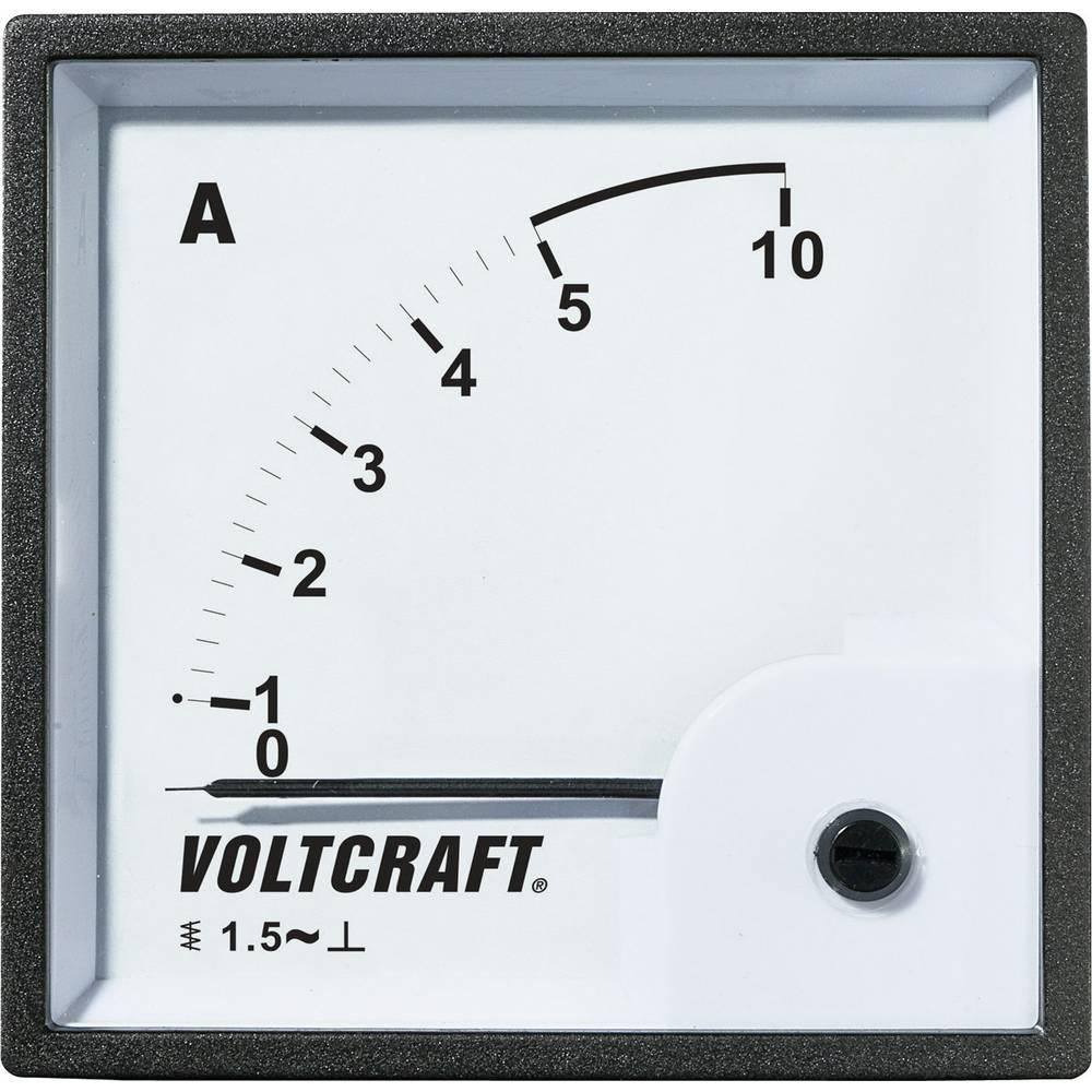 VOLTCRAFT AM-96X96/5A analogni ugradbeni mjerni uređaj AM-96X96/5A 5 A pomično željezo