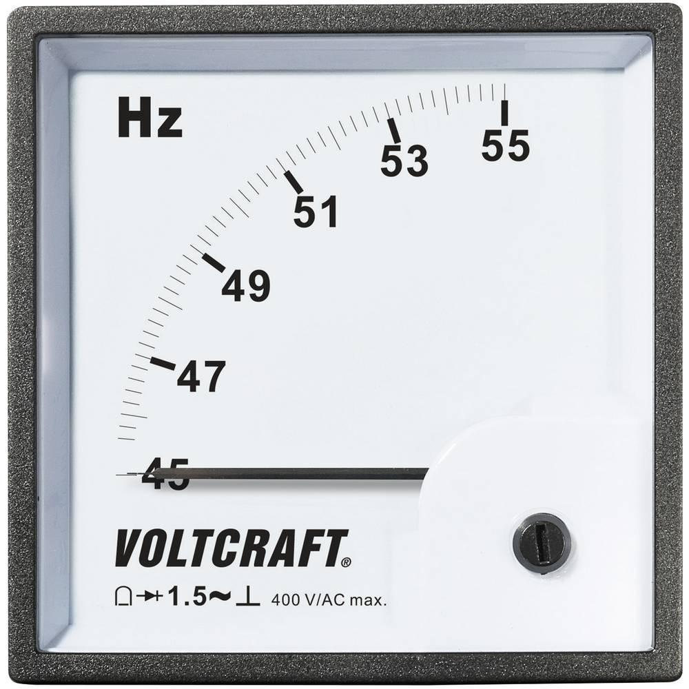 VOLTCRAFT AM-96X96/50HZ analogni ugradbeni mjerni uređajAM-96X96/50HZ 45 - 55 Hz pomični svitak, 380 - 400 V/AC