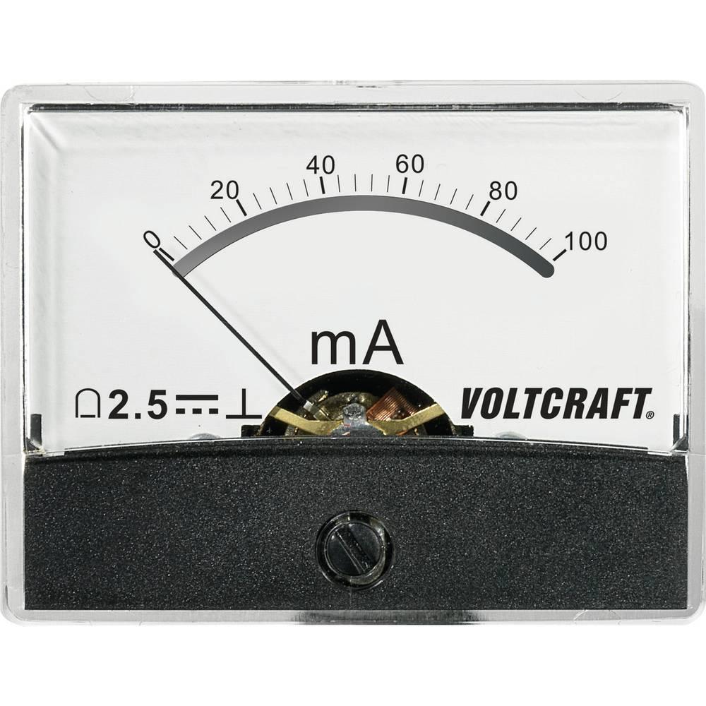 VOLTCRAFT AM-60X46/100MA/DC ugradbeni mjerni uređaj AM-60X46/100mA/DC 100 mA pomični svitak