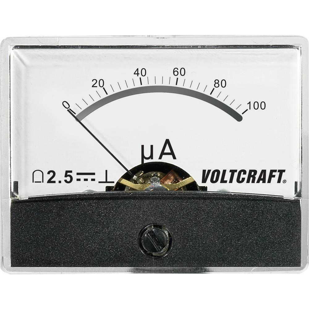 VOLTCRAFT AM-60X46/100µA/DC ugradbeni mjerni uređaj AM-60X46/100µA/DC 100 µA pomični svitak