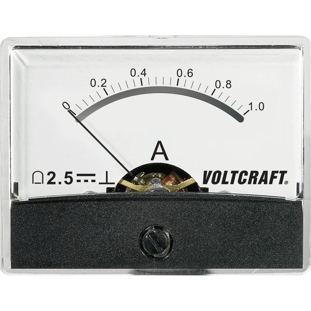 VOLTCRAFT AM-60X46/1A/DC ugradbeni mjerni uređaj AM-60X46/1A/DC 1 A pomični svitak