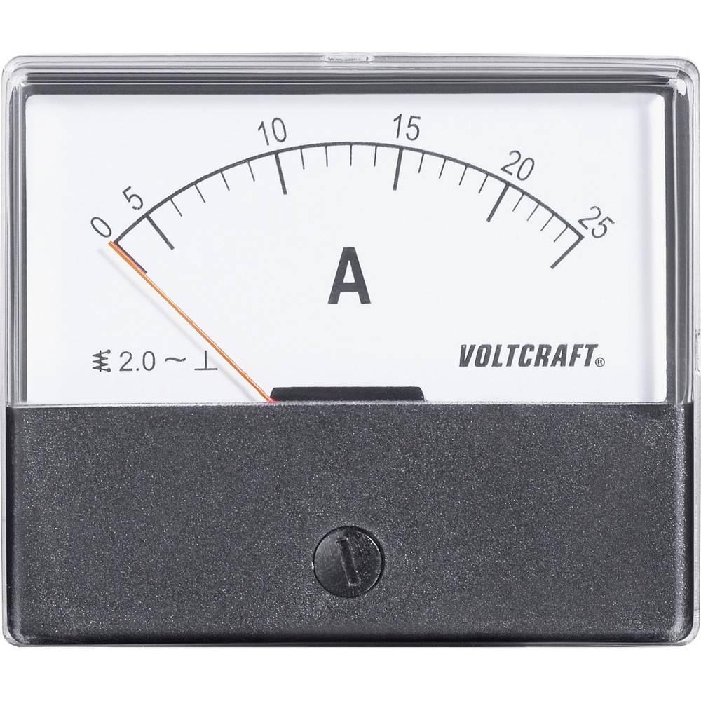 VOLTCRAFT AM-70X60/25A ugradbeni mjerni uređaj AM-70X60/25A 25 A pomično željezo