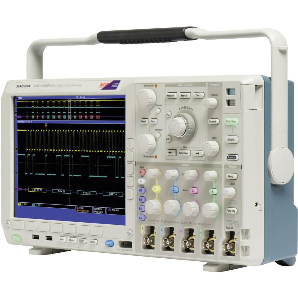 Kal. ISO Digitalni osciloskop Tektronix MSO4104B 1 GHz 20-kanalni 5 GSa/s 20 Mpts 11 Bit kalibracija narejena po: ISO, digitalni