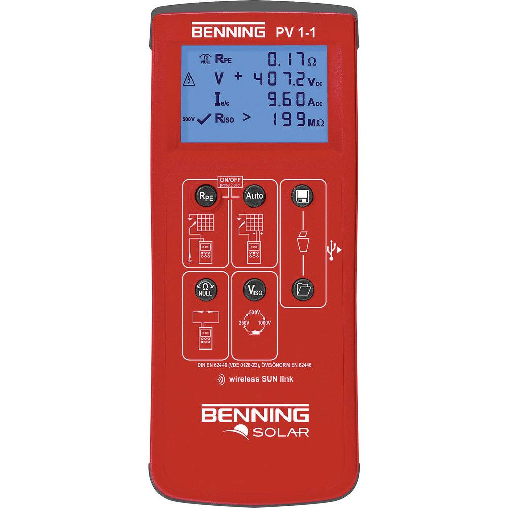 Tester instalacije Benning PV 1-1 kalibriran prema DAkkS