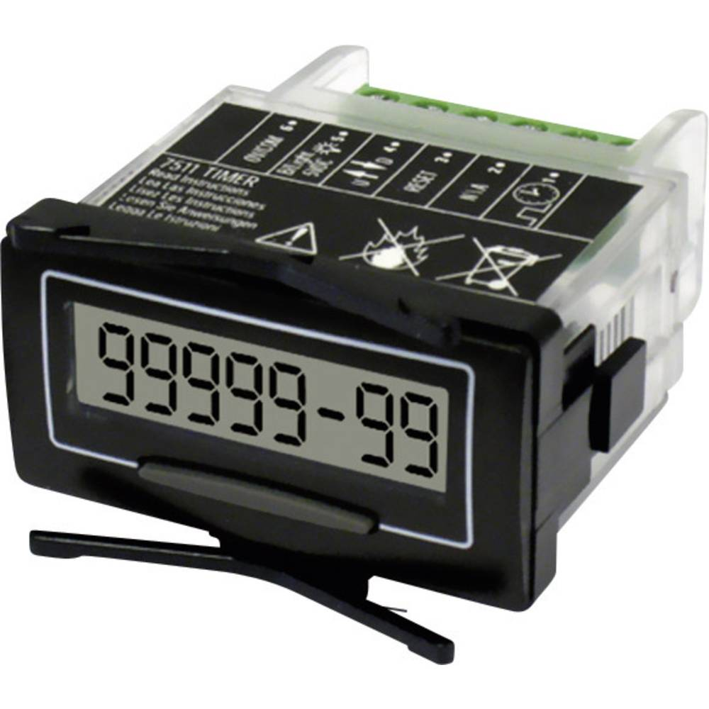 Brojilo radnih sati Trumeter 7511HV, vlastito napajanje, dimenzija: 45 x 20 mm