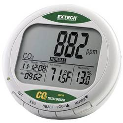 Merilnik kakovosti zraka s shranjevalnikom podatkov Extech CO210 , prikaz CO2, temperature