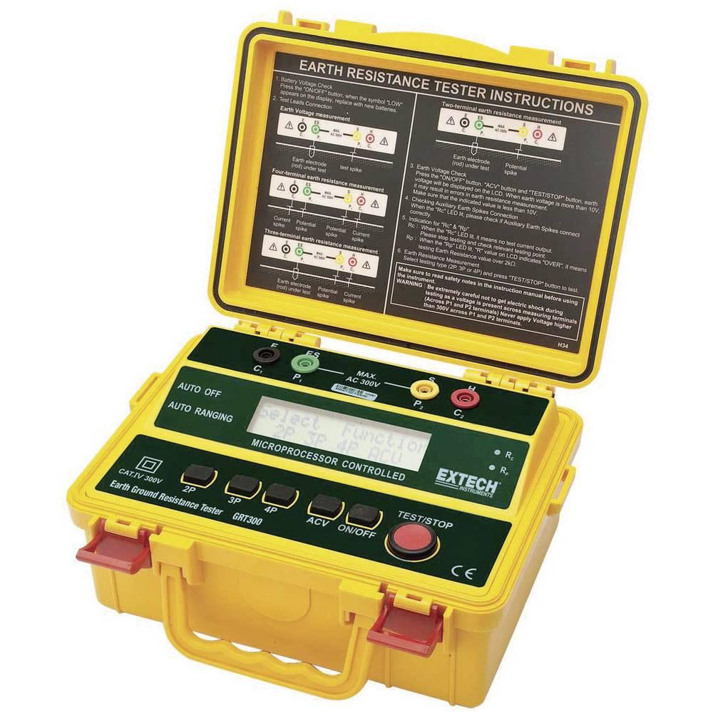 Extech GRT300 komplet za merjenje ozemljitve za 2-/3- in 4-letvične-ozemljitvene merilne naprave, CAT IV 300 V