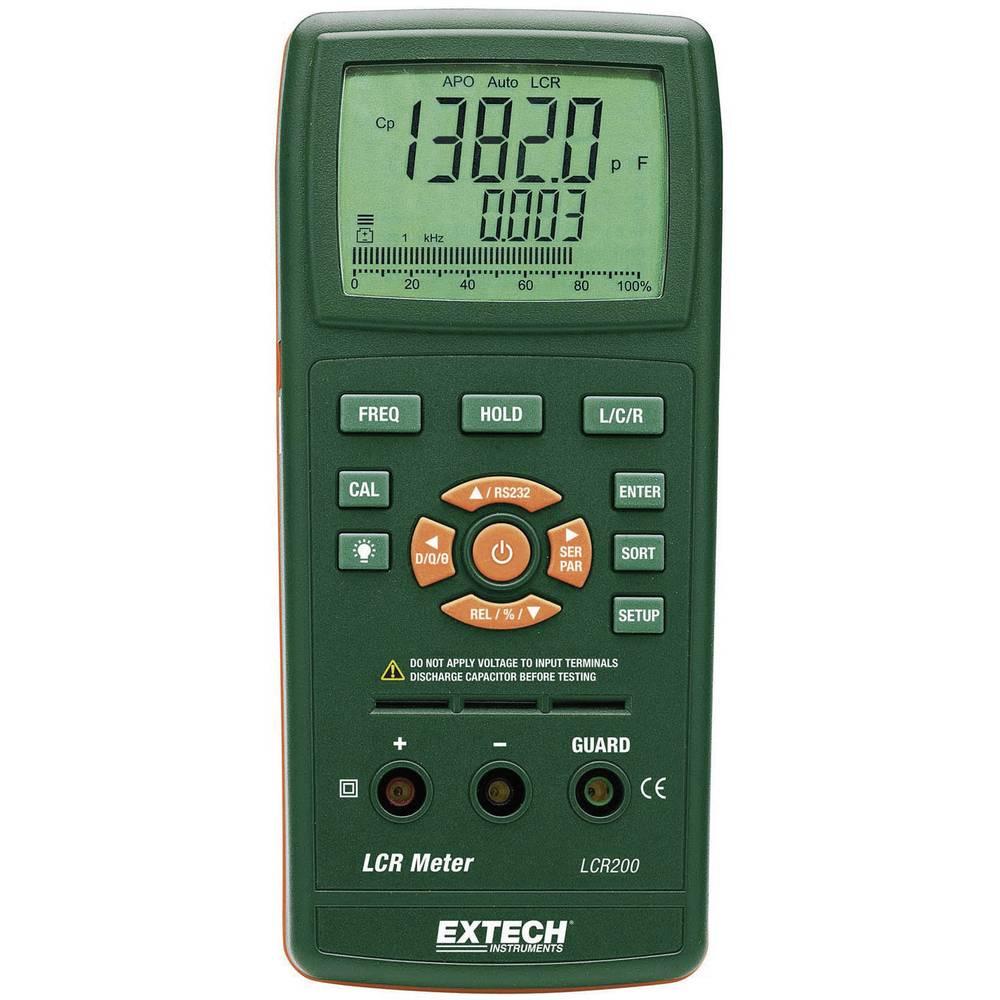 Tester komponent, digitalni Extech LCR200 kalibracija narejena po: delovnih standardih, CAT I število znakov na zaslonu: 20000