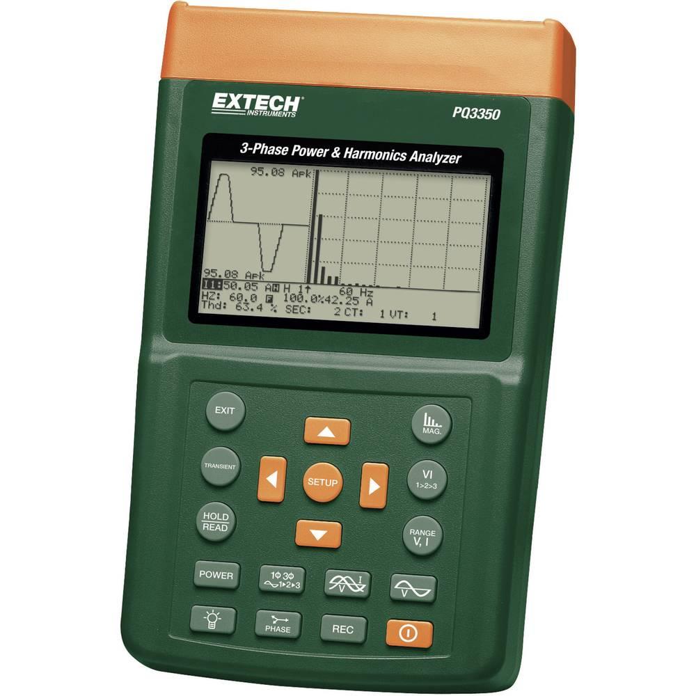 Extech PQ3350 omrežna analizna naprava za 1-3 fazna omrežja, CAT III 600 V
