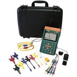 Extech PQ3350-1 omrežna analizna naprava za 1-3 fazna omrežja, CAT III 600 V vklj. s 3 fleksibilnimi električnimi škarjami do 12