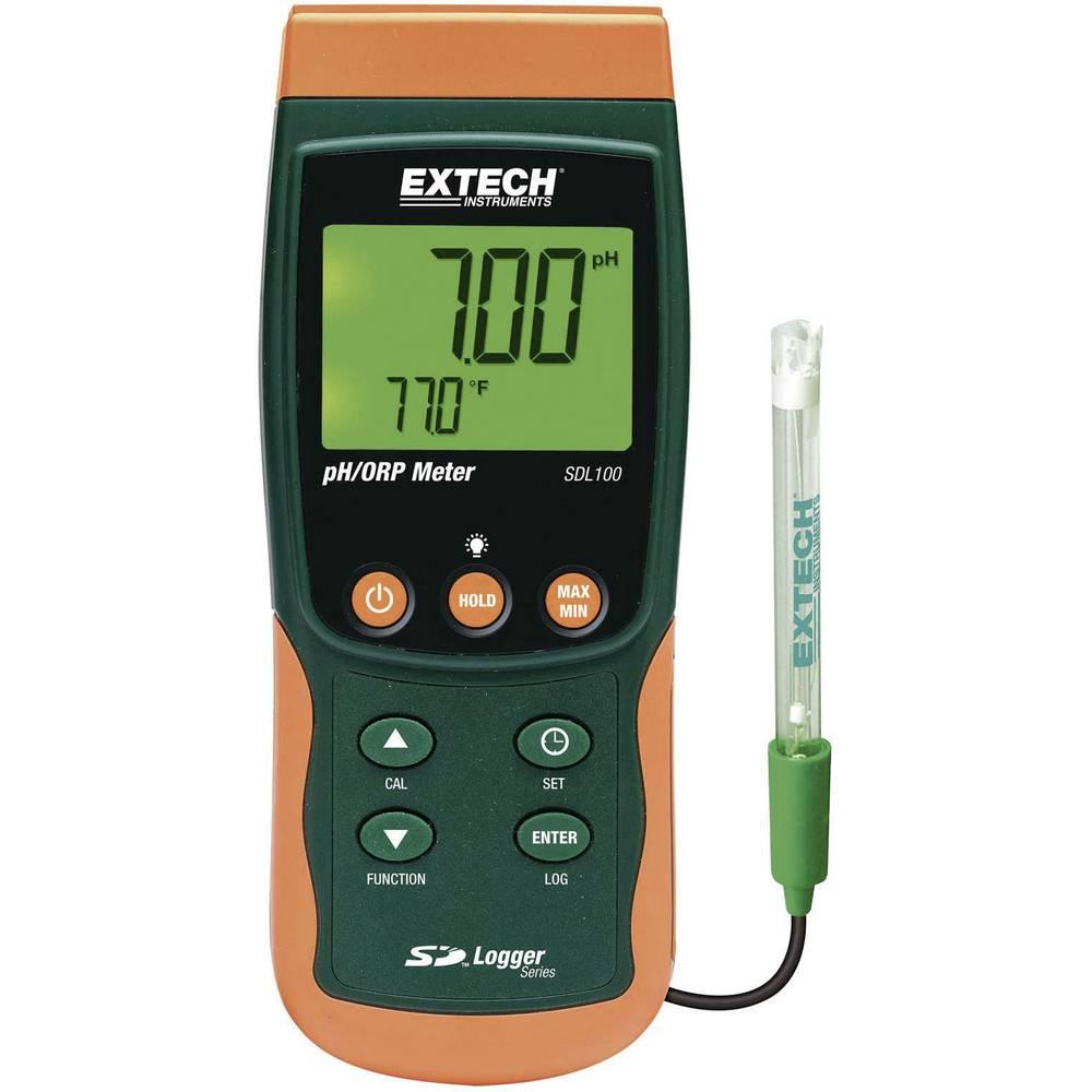 Extech SDL100 pH-/redoks mjerni uređaj sa zapisivačem podataka SDL100, kalibriranje u 3 točke, mjerno područje 0 - 14 pH, 0 - 65