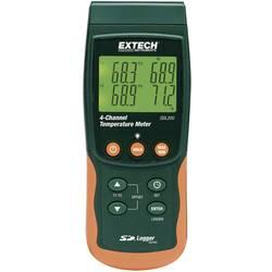 Merilnik temperature Extech SDL200 -199 do +1700 °C vrsta tipala: K, J, T, E, R, S, Pt100 z zapisovalnikom podatkov-Funktion kal