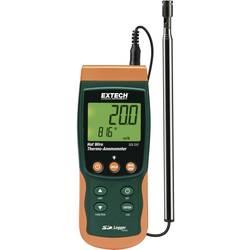 Extech SDL350 anemometer na vročo žičko s funkcijo merjenja temperature in vgrajenim shranjevalnikom podatkov, teleskopski senzo