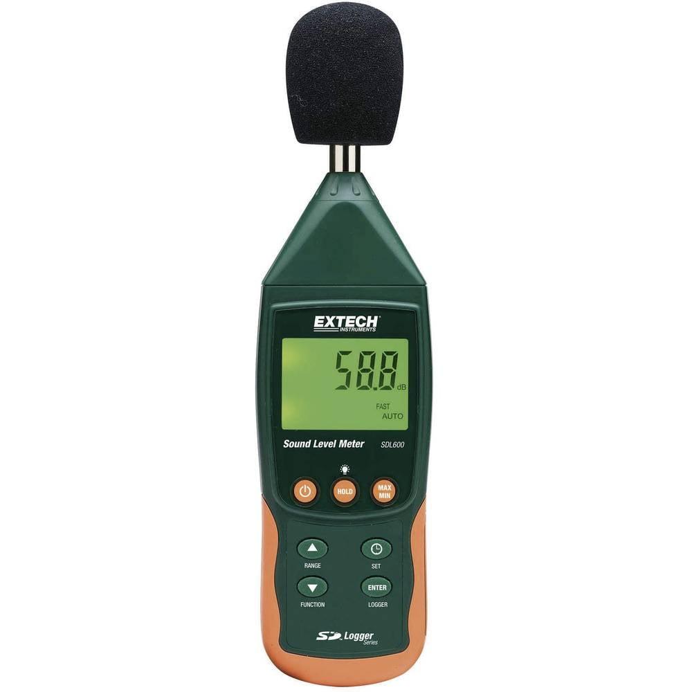 Kal.-ISO Extech SDL600 merilnik glasnosti z vgrajenim shranjevalnikom podatkov, merilnik hrupa, 31,5 - 8000 Hz, v skladu s stand