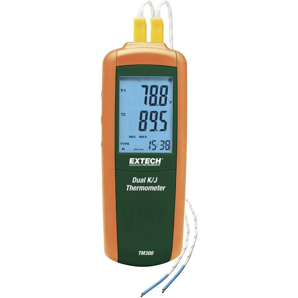 Merilnik temperature Extech TM300 -200 do +1372 °C vrsta tipala: K, J kalibracija narejena po: delovnih standardih