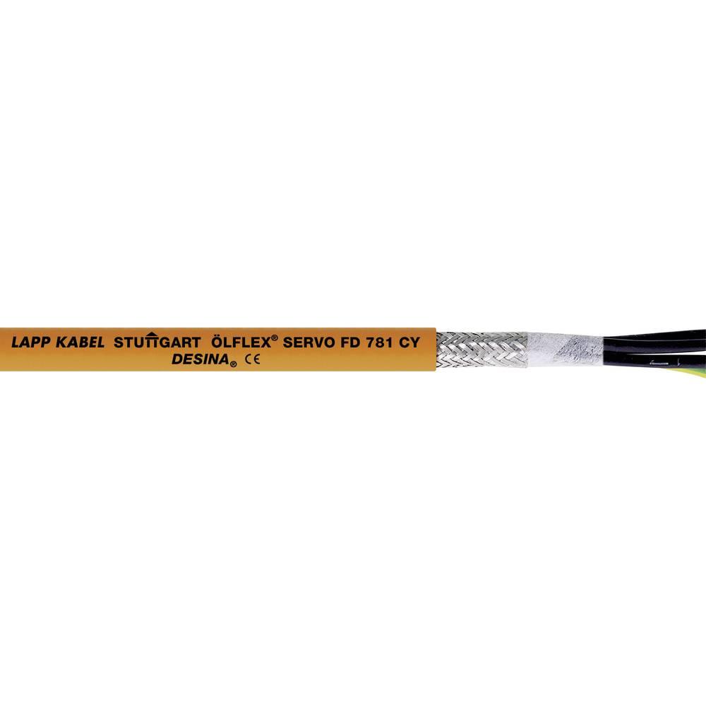 Kabel za krmiljenje servo motorjev ÖLFLEX® SERVO FD 781 CY 4 G 1.5 mm oranžne barve LappKabel 0036320 50 m