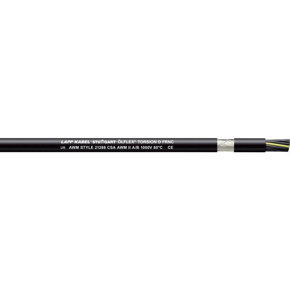 Krmilni kabel ÖLFLEX TORSION D FRNC 8 x 0.5 mm črne barve LappKabel 1150111 100 m