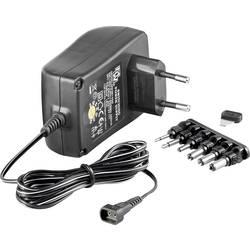 Vtični napajalnik, nastavljiv Goobay 67952 3 V/DC, 4.5 V/DC, 5 V/DC, 6 V/DC, 7.5 V/DC, 9 V/DC, 12 V/DC 1500 mA