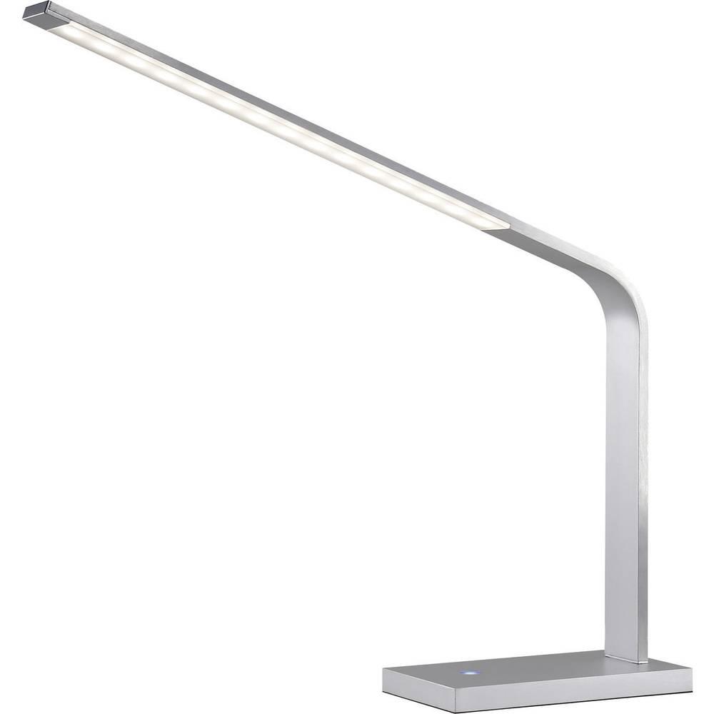 LED stolna svjetiljka Renkforce Merfy 8 W toplo-bijela, srebrna-siva