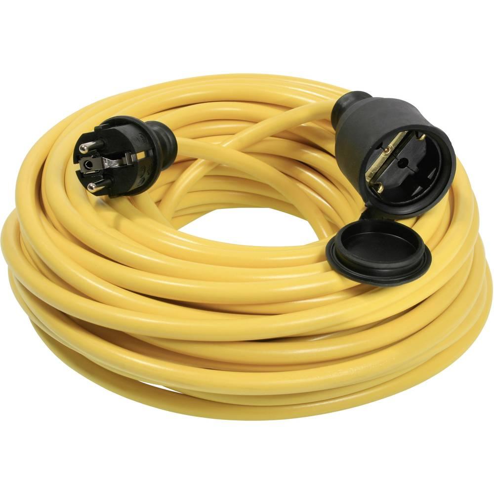 Električni podaljševalni kabel [ zaščiteni kontakti-vtič - zaščiteni kontakti-sklopka] rumen 50 m AS Schwabe 60357