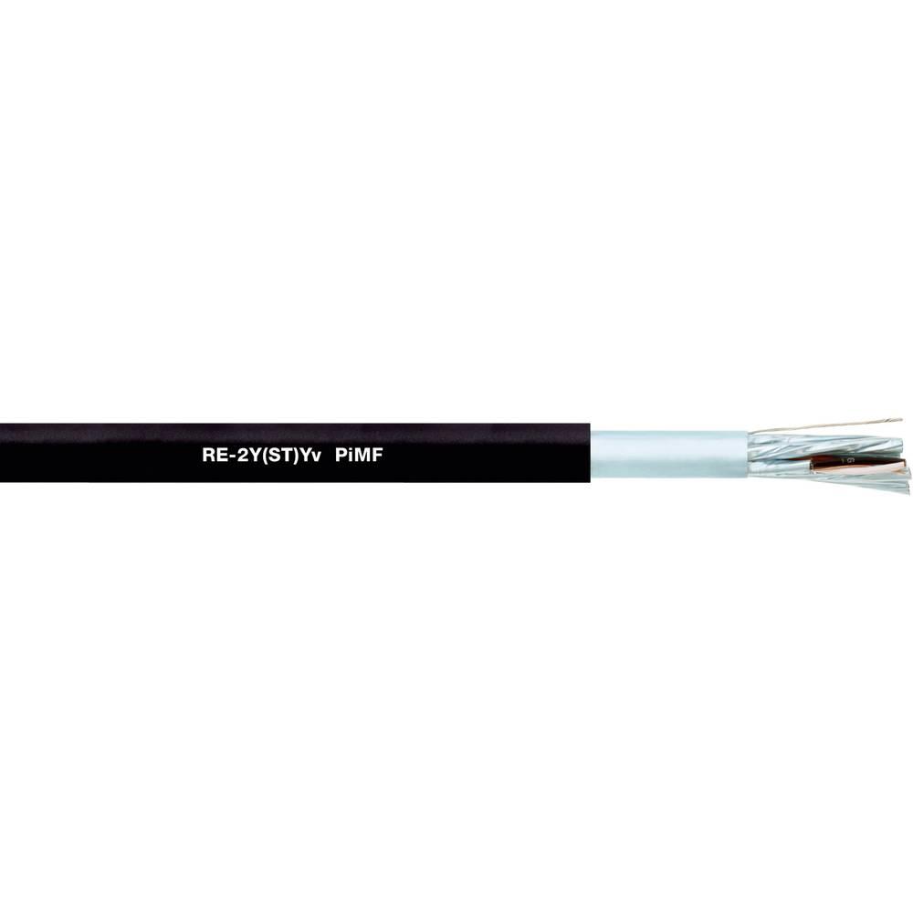 Podatkovni kabel RE-2Y(ST)Yv PiMF 2 x 2 x 1.3 mm črne barve LappKabel 0032464 100 m
