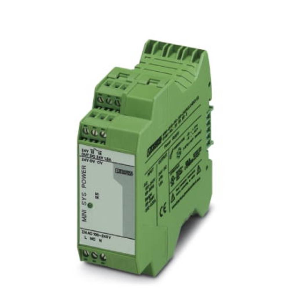 Napajalnik za namestitev na vodila (DIN letev) Phoenix Contact MINI-SYS-PS-100-240AC/24DC/1.5 24 V/DC 1.5 A 36 W 1 x
