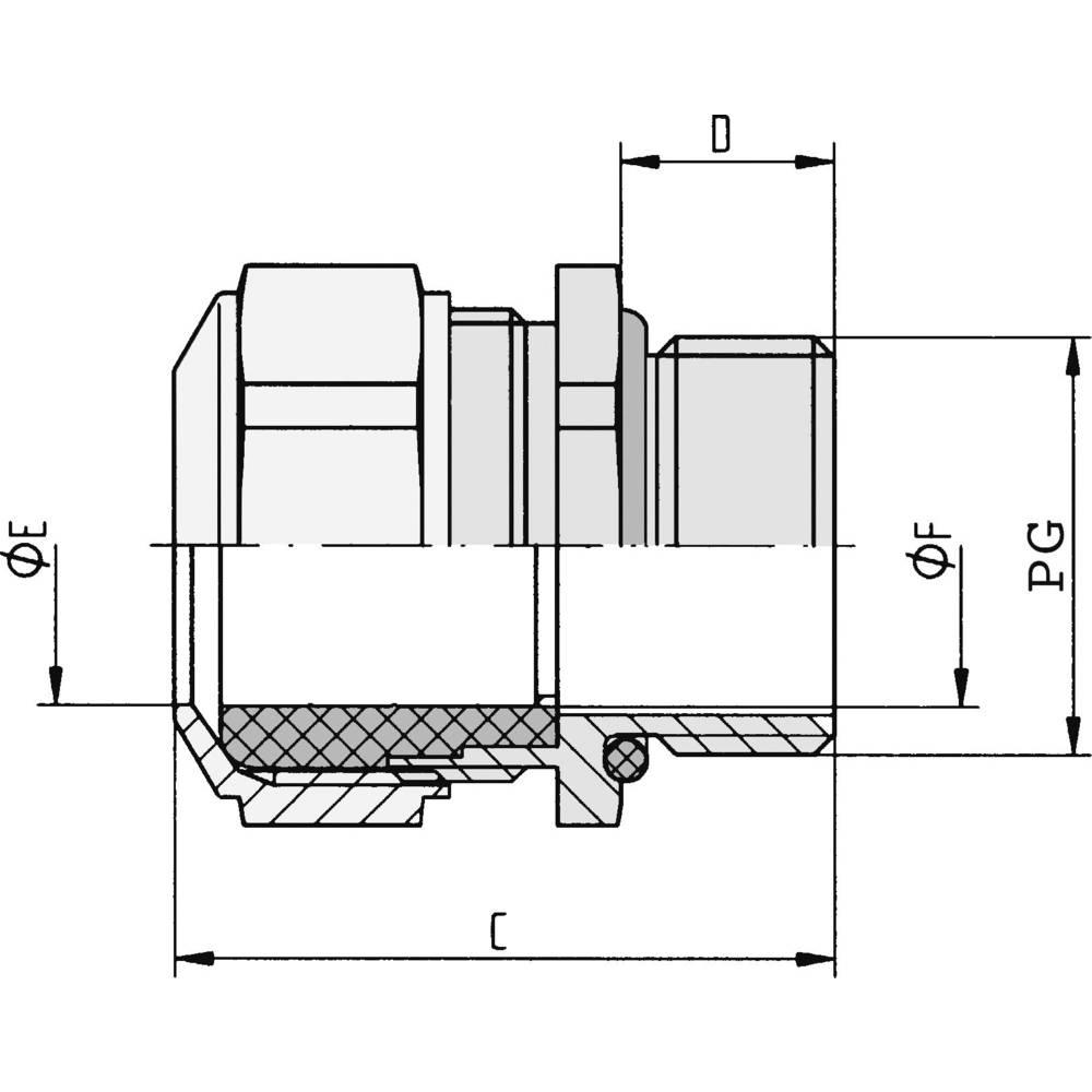 Kabelforskruning LappKabel SKINDICHT® CN PG 29 PG29 Nikkel Nikkel 5 stk