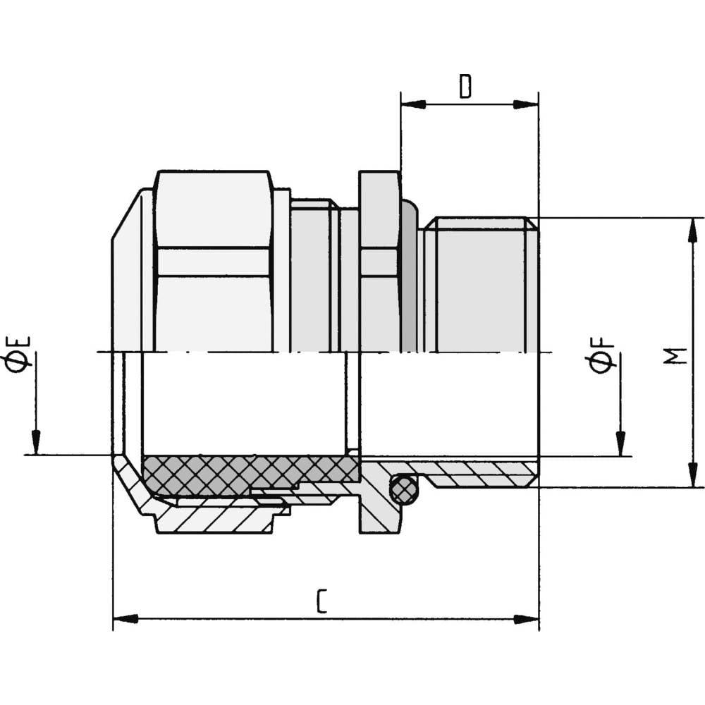 Varovalna matica M20 nikelj, jeklo nikelj LappKabel SKINDICHT SM CRNI M 20X1,5 10 kos