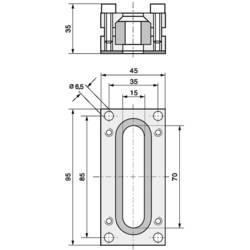Tesnilni nastavek za speljavo kablov, aluminij, LappKabel SKINDICHT FL1 1 kos