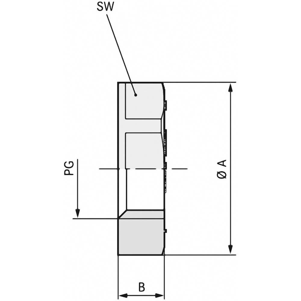 Varovalna matica PG36 polistiren (EPS) svetlo sive barve (RAL 7035) LappKabel SKINDICHT GMK PG 36 RAL 7035 LGY 25 kos