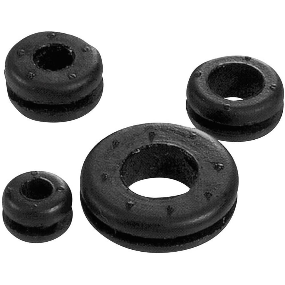 Kabelska uvodnica premer sponke (maks.) 9 mm kloropren-kavčuk črne barve LappKabel SKINDICHT LA 9 100 kos