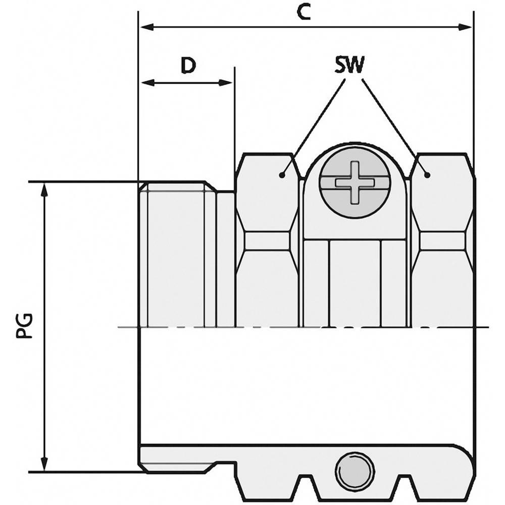 Kabelforskruning LappKabel SKINDICHT® SH PG 48 PG48 Messing Messing 5 stk