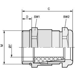 Kabelforskruning LappKabel SKINDICHT® SHV-M 32X1,5/29/26 M32 Messing Messing 10 stk